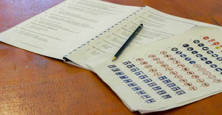 learners licence test papers